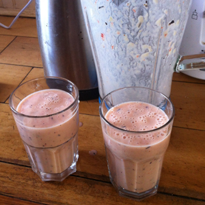 A pair of smoothies