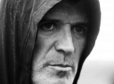 It could be a still from a mediaeval monk murder mystery. But that's a cowled Roy Keane, in pensive mood. Preparing not to fail...