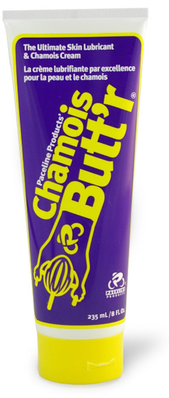 Chamois Butt'r. Could be a lifesaver! No buts, it has to be butt'r...