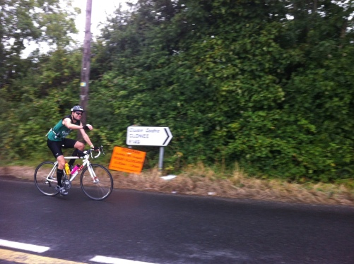 Lotzy rolls into Leixlip... and quickly rolls back out again!