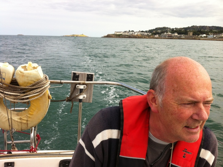 Cousin Derek, or skipper, as I should call him! Dalkey and the Muglins in the background.