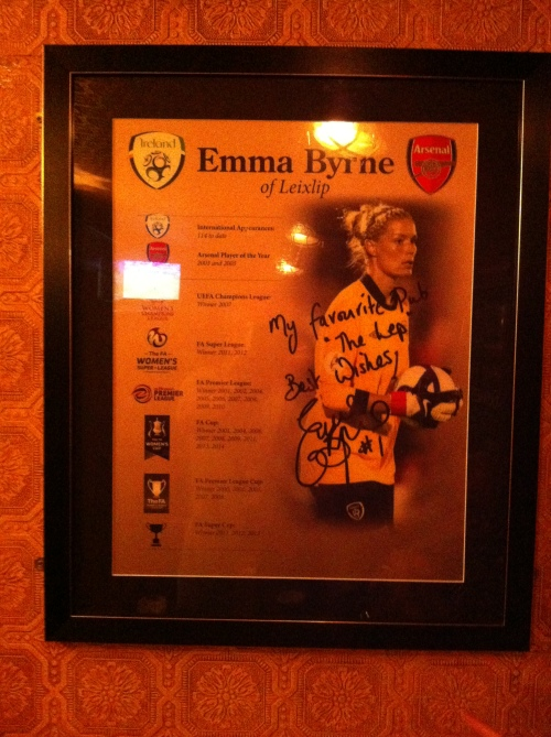 Emma Byrne. Official Leixlip and Ireland legend. So there!