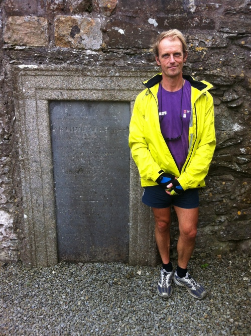 Robert at the grave of Arthur Guinness.