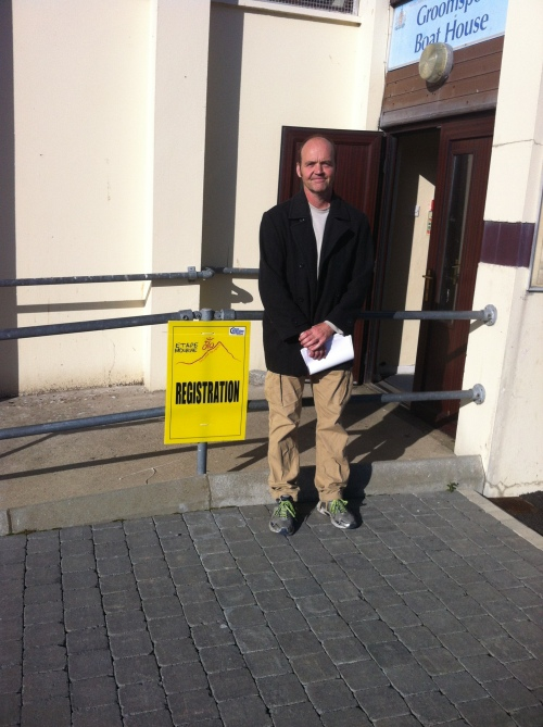 Yes, that's me outside, just before registration.