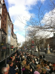 O'Connell Street with the Spire.