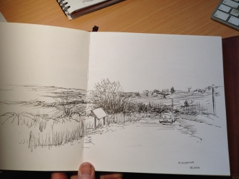 A sketch at Mullaghmore.