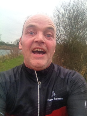 A selfie taken after 21k, whilst still on the run, is never a good idea. Not least when you look like an escaped lunatic...