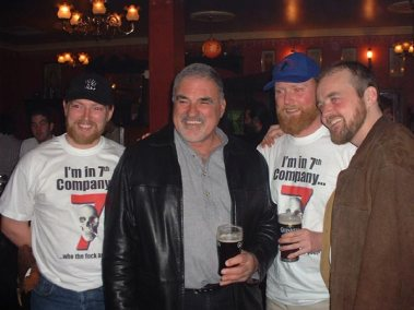 Derek, Will and myself, with ex Navy seal Harry, at the wrap party.