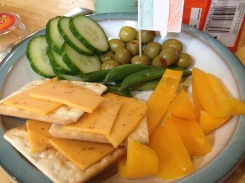 A healthy snack as prepared by Tamsyn to celebrate the day!