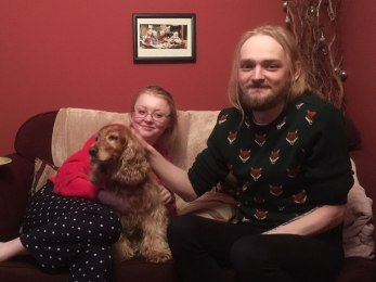 Tamsyn and Dallan, with Holly
