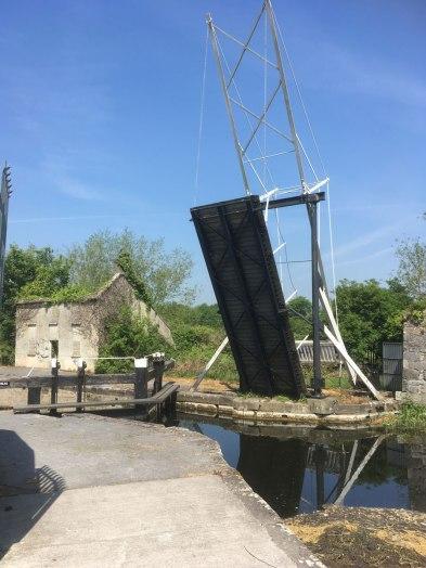 A lifting bridge at Bagenalstown