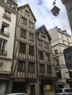 A tudor-style building in Le Marais
